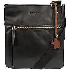 Conkca London - Black 'Abbie' handcrafted leather across body bag
