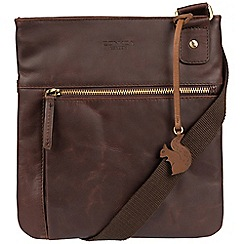 Conkca London - Brown 'Abbie' handcrafted leather across body bag