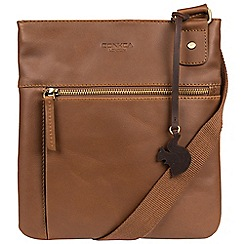 Conkca London - Chestnut 'Abbie' handcrafted leather across body bag
