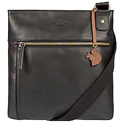 Conkca London - Black 'Eden' handcrafted leather across body bag
