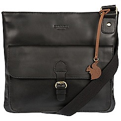 Conkca London - Black 'Sudbury' handcrafted leather across body bag