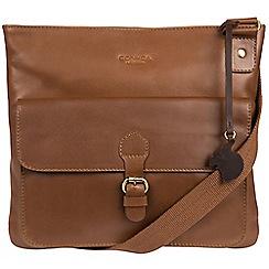 Conkca London - Chestnut 'Sudbury' handcrafted leather across body bag