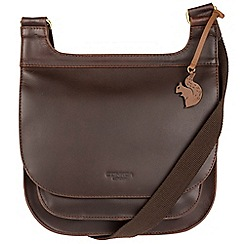 Conkca London - Brown 'Kew' handcrafted leather across body bag