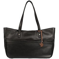 Conkca London - Black 'Heron' handcrafted leather handbag