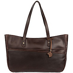 Conkca London - Brown 'Heron' handcrafted leather handbag