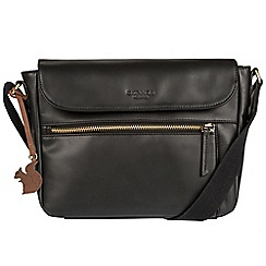 Conkca London - Black 'Kite' handcrafted leather small across body bag