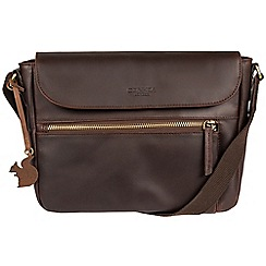 Conkca London - Brown 'Kite' handcrafted leather small across body bag
