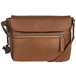 Conkca London - Chestnut 'Kite' handcrafted leather small across body bag