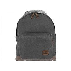 Conkca London - Grey 'Paddington' heavy-duty canvas backpack