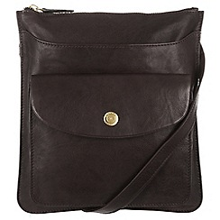 Conkca London - Vintage dark brown 'Lilia' tumbled leather bag