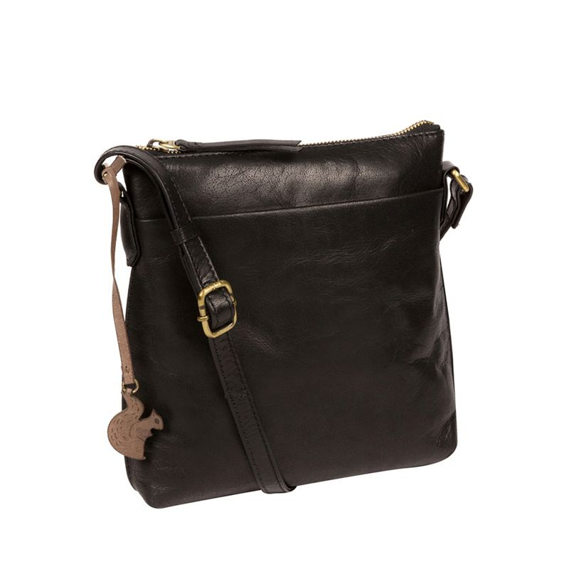 Conkca London - Black Nikita Leather Compact Cross-Body Bag