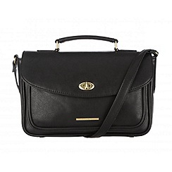 Cultured London - Black 'Amber' small satchel bag