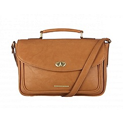 Cultured London - Oak 'Amber' small satchel bag