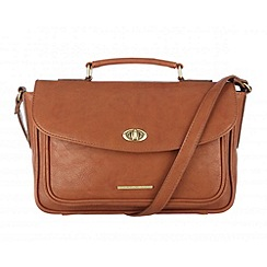 Cultured London - Tan 'Amber' small satchel bag