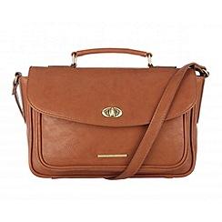 Cultured London - Tan 'Amber' small satchel bag