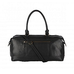 Cultured London - Black 'Harbour' cotton-lined holdall
