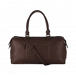 Cultured London - Brown 'Harbour' cotton-lined holdall
