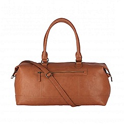 Cultured London - Tan 'Harbour' cotton-lined holdall