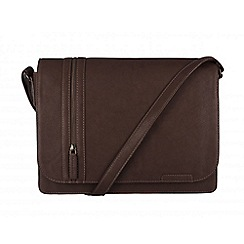 Cultured London - Brown 'Rory' cotton-lined messenger bag