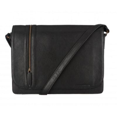 Cultured London Black ´Rory´ A4 messenger bag - . -