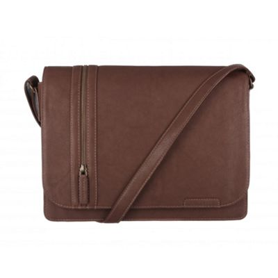 Cultured London Brown ´Rory´ A4 messenger bag - . -