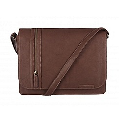 Cultured London - Brown 'Rory' A4 messenger bag
