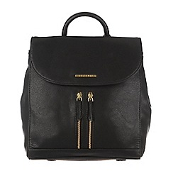 Cultured London - Black 'Selena' cotton-lined backpack
