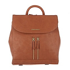 Cultured London - Tan 'Selena' cotton-lined backpack
