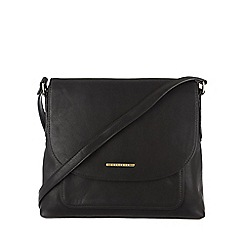 Cultured London - Black 'Selma' cotton-lined cross-body bag