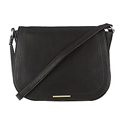 Cultured London - Black 'Abigail' cotton-lined cross-body bag