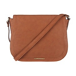 Cultured London - Tan 'Abigail' cotton-lined cross-body bag