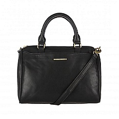 Cultured London - Black 'Katie' cotton-lined hand bag