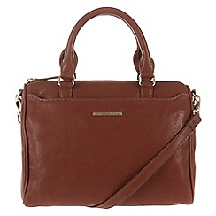 Cultured London - Nut brown 'Katie' cross-body handbag
