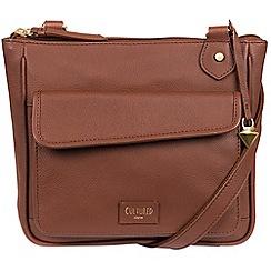 Cultured London - Sienna brown 'Aisha' soft leather cross-body bag