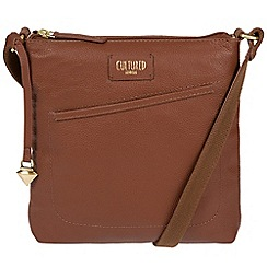 Cultured London - Sienna brown 'Bliss' soft leather cross-body bag