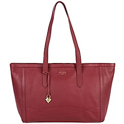 Cultured London - Red 'Ferne' soft leather hand bag