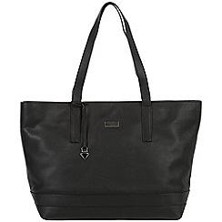 Cultured London - Black 'Helena' soft leather large bag