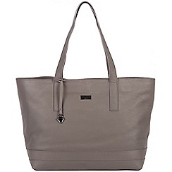 Cultured London - Dark Grey 'Helena' soft leather large bag