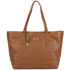 Cultured London - Tan 'Helena' soft leather large bag