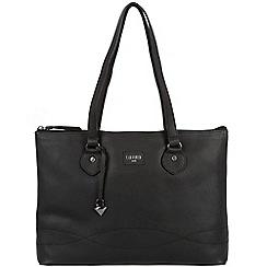 Cultured London - Black 'Ivy' soft leather large bag