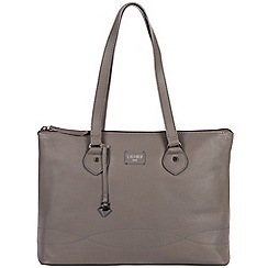 Cultured London - Dark Grey 'Ivy' soft leather large bag