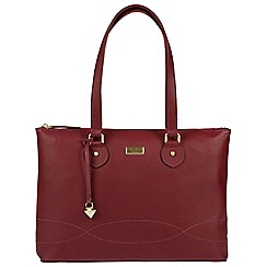 Cultured London - Ruby Red 'Ivy' soft leather cross-body bag