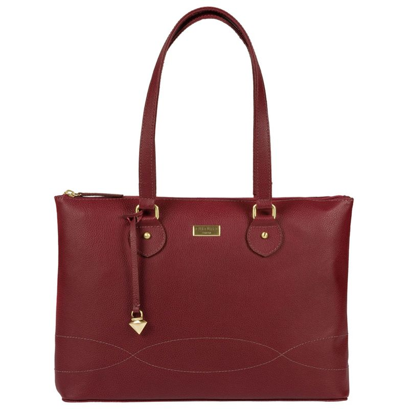 Cultured London - Ruby Red Ivy Soft Leather Cross-Body Bag