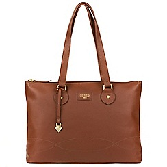Cultured London - Sienna brown 'Ivy' soft leather large bag