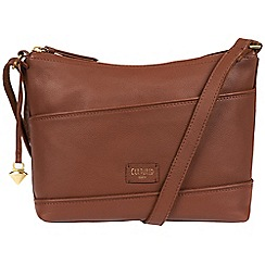 Cultured London - Brown 'Delilah' soft leather cross body bag