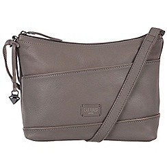 Cultured London - Dark grey 'Delilah' soft leather cross body bag