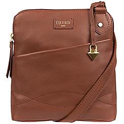 Cultured London - Brown 'Jayne' soft leather slim cross body bag