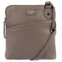 Cultured London - Grey 'Jayne' soft leather slim cross-body bag