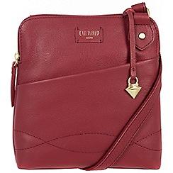 Cultured London - Red 'Jayne' soft leather slim cross body bag