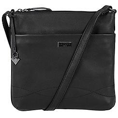 Cultured London - Black 'Gigi' soft leather slim cross body bag